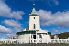 Uma igreja pequena em Reykjahlid Fotos de Stock Royalty Free