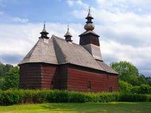 Uma igreja rara em Stara Lubovna, Spis, Eslováquia Imagens de Stock