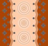 Uma ilustração baseada no estilo aborígene da pintura do ponto descreve Imagens de Stock Royalty Free