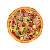 Uma ilustração bonita da pizza ilustração royalty free