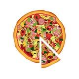 Uma ilustração bonita da pizza ilustração stock