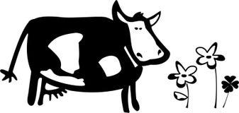 Uma ilustração da vaca Fotografia de Stock