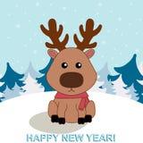 Uma ilustração de cervos engraçados Imagem de Stock Royalty Free