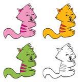 Gatos bonitos dos desenhos animados ilustração do vetor