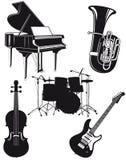 Instrumentos orquestrais ilustração stock