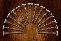Uma ilustração de um fã da carpintaria da precisão martela a placa Imagem de Stock Royalty Free