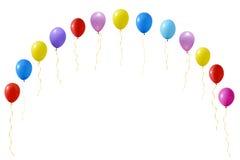 Uma ilustração de um grupo de balões coloridos Fotos de Stock Royalty Free