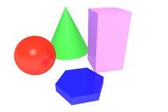 Geometria básica colorida Foto de Stock Royalty Free