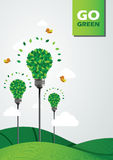 Uma ilustração do verde ir Fotografia de Stock