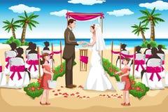Casamento de praia ilustração stock