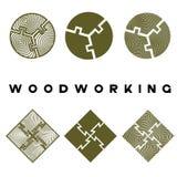 uma ilustração que consiste em diversas imagens de uma parte do corte de deoev e do ` do woodworking do ` da inscrição foto de stock
