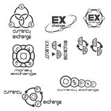 uma ilustração que consiste em diversos ícones da troca aponta Fotografia de Stock Royalty Free