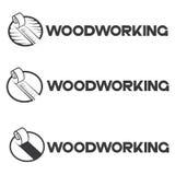 uma ilustração que consiste em três imagens diferentes de uma parte de madeira e de microplaquetas fotografia de stock royalty free