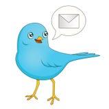 Mensagem azul do pássaro Foto de Stock