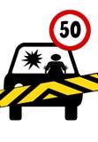 Limites de velocidade do respeito Imagens de Stock Royalty Free