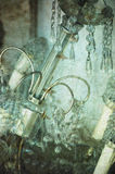 Uma ilustração textured de um candelabro antigo Imagem de Stock