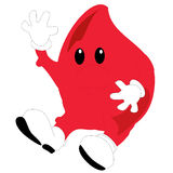 Uma ilustração de uma gota do sangue de Toon Imagens de Stock Royalty Free
