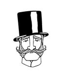 Uma ilustração do cavalheiro Imagens de Stock Royalty Free