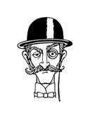 Uma ilustração do cavalheiro Imagens de Stock
