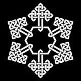 Uma ilustração estilizado do vetor do floco de neve do nó chinês Imagens de Stock