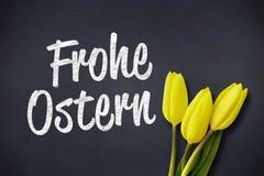 Uma imagem composta de tulipas amarelas ilustração stock