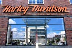 Uma imagem de Harley Davidson Logo - de um Bielefeld/Alemanha - 07/23/2017 Fotos de Stock Royalty Free