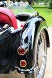 Uma imagem de um side-car da motocicleta fotos de stock