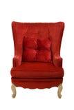 Uma imagem de uma cadeira vermelha fotos de stock royalty free