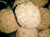 Uma imagem do bolo do marrom do amaranto foto de stock royalty free
