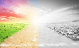 Uma imagem do conceito das alterações climáticas imagens de stock