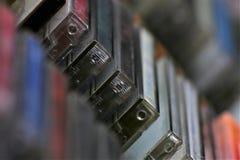 Uma imagem do conceito de uma coleção do CD - CD da música Foto de Stock Royalty Free