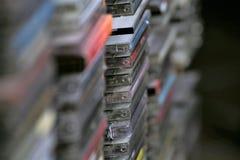 Uma imagem do conceito de uma coleção do CD - CD da música imagem de stock