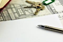 Uma imagem do conceito de um acordo da casa - zombaria acima imagem de stock royalty free