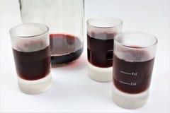 Uma imagem do conceito de um licor com vidros congelados fotos de stock royalty free