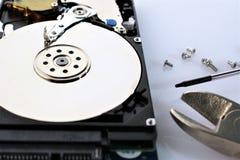 Uma imagem do conceito do disco rígido, reparo - disco Fotos de Stock Royalty Free