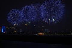 Uma imagem do fogos-de-artifício bonitos em Hunan CHangsha (China) imagem de stock
