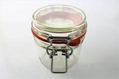 Uma imagem do frasco vazio - vidro foto de stock