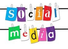 Linha social dos meios Imagem de Stock