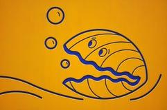 Uma impressão dos desenhos animados de uns moluscos ilustração do vetor