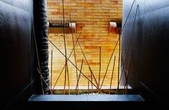 Uma janela ao pátio traseiro Foto de Stock