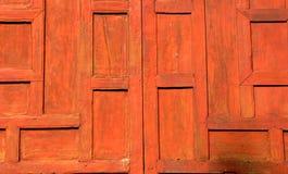 Uma janela de madeira fechado Imagens de Stock