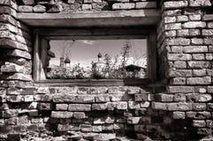 Uma janela em uma parede de tijolo Rebecca 36 Imagem de Stock