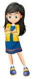 Uma jovem senhora irritada Imagem de Stock Royalty Free