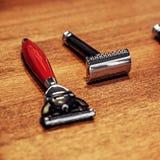 Uma lâmina clássica e uma lâmina moderna do estilo imagens de stock