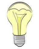Uma lâmpada Fotos de Stock