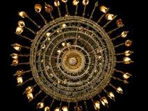Uma lâmpada grande na mesquita de Mohamed Ali - o Cairo - Egito fotografia de stock royalty free