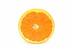 Uma laranja do corte Foto de Stock