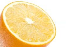 Uma laranja no close up imagens de stock