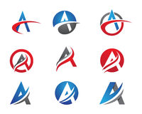 Uma letra Logo Template Fotografia de Stock