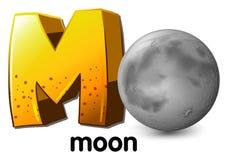 Uma letra M para a lua Fotos de Stock